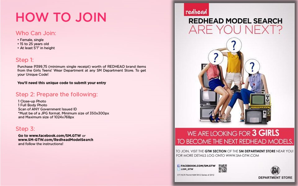 SM Department Store Model Search